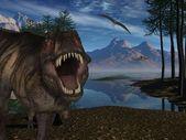 Tyrannosaurus Rex- 3D Dinosaur — Stock Photo