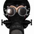 Girl in gasmask — Stock Photo