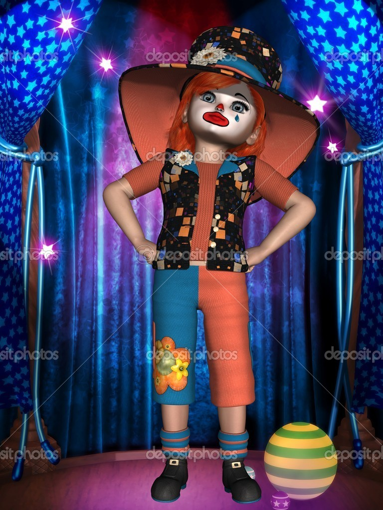 3d render of a funny clown — Stock Photo #5858744