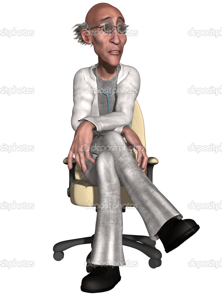3d render of a crazy doctor  Stock Photo #6396351