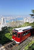 Hong Kong peak tram — Stock Photo