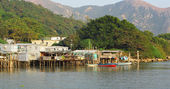 Tai O fishing village in Hong Kong — Stok fotoğraf
