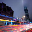 Taipei commercial district at night — Stock Photo