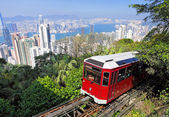 Peak tram in Hong Kong — Stock Photo
