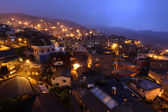 Jiu fen village at night, in Taiwan — Stockfoto