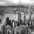 Hong Kong , black and white — Stock Photo