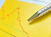 финансовые индикаторы — Стоковое фото