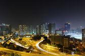 Ciudad moderna en la noche — Foto de Stock