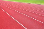 Lanes of running track — Stockfoto