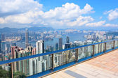 Observation deck in Hong Kong — Stock Photo