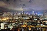 Hong kong centro de noche — Foto de Stock