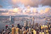 Hong Kong landmark view from the peak — Stock Photo