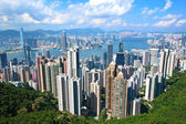 从山顶香港地标视图 — 图库照片