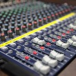 Audio mixing console — Stock fotografie