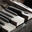 Broken piano keys — Stock Photo