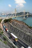 шоссе и тинг кау мост — Стоковое фото