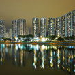 Hong Kong public housing and river — Stock Photo #6366428