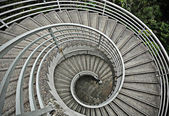 Beautiful spiraling stairs — Stockfoto