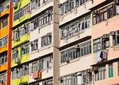 Old apartments — Стоковое фото