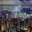 Stock Photo: Hong Kong night view from the peak