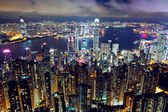 Hong Kong night view from the peak — Stock Photo