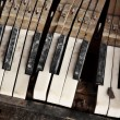 Broken piano keys — Stock Photo #6521302