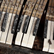 Broken piano keys — Stock Photo #6521308