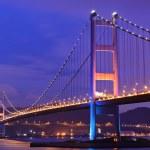 Tsing Ma Bridge at Hongkong — Stock Photo