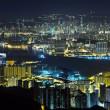 vista notturna di Hong Kong — Foto Stock