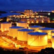 Stock Photo: Aviation Fuel Tank Farm