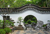 Garden in chinese style — Stock Photo