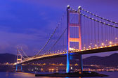Tsing Ma Bridge at Hongkong — Stock Photo