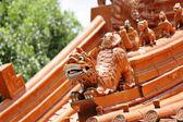 Tetto del tempio cinese — Foto Stock