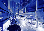 City at night in blue tone — Stock Photo