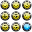 Stock Vector: Smiley icons.