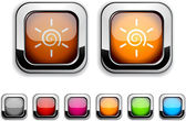 Sun button. — Stock Vector