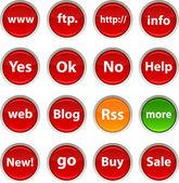 Iconos de internet. — Vector de stock