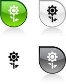 Blomma-knappen. — Stockvektor