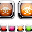 Vector de stock : Virus button.