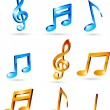 Music tones. — Stock Vector