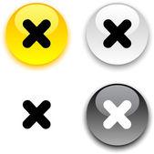 Botão cruz. — Vetorial Stock