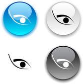 Eye button. — Stock Vector