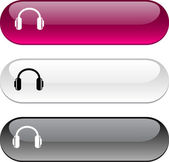 Headphones button. — Stock Vector