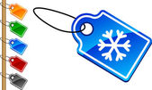 Snowflake tags. — Stock Vector