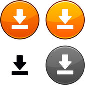 Download button. — Stock Vector