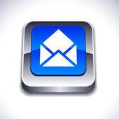 电子邮件 3d 按钮. — 图库矢量图片