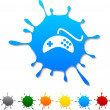 Stock Vector: Gamepad blot.