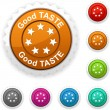 Good taste award. — Stock Vector