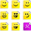 Stock Vector: Smiley stickers.