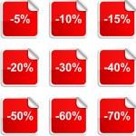 Discount stickers. — Stock Vector #5391524